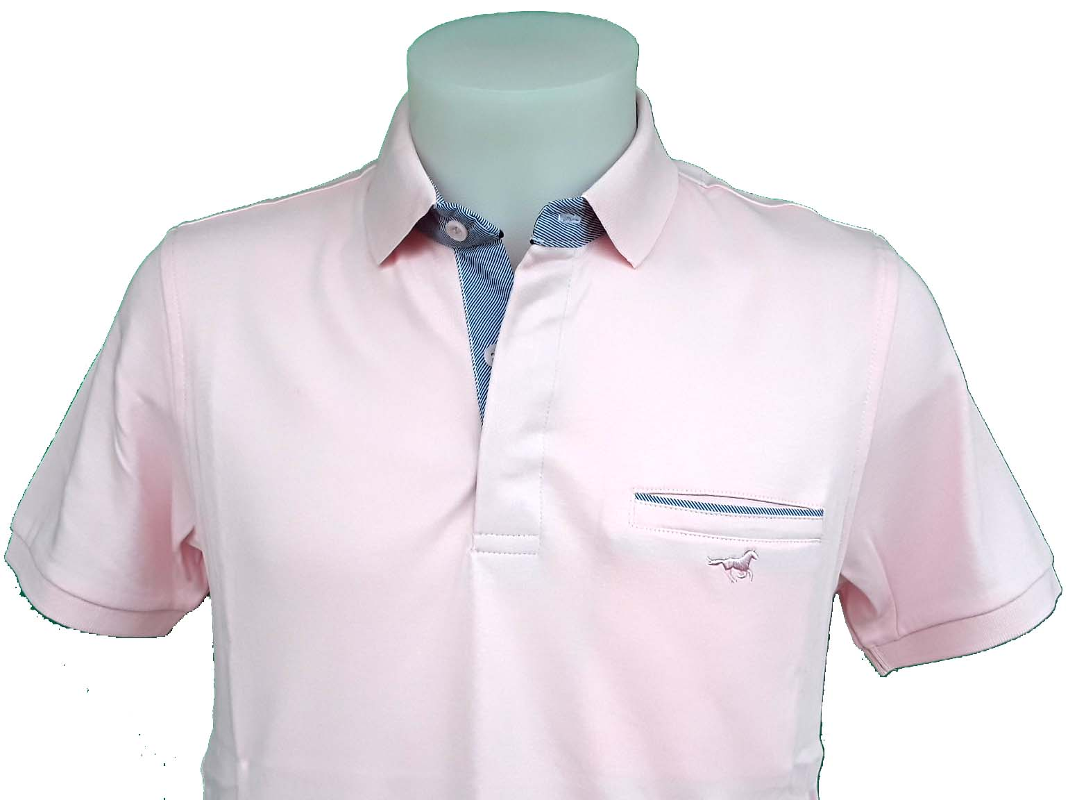 Polo-homme-rose-manche-courte