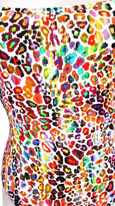 Maillot de bain Imprimé léopard coloré