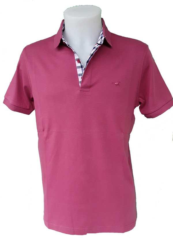 polo-homme-rose-framboise